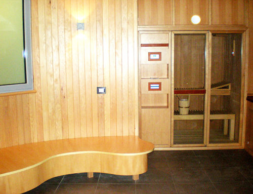 Sala benessere e sauna